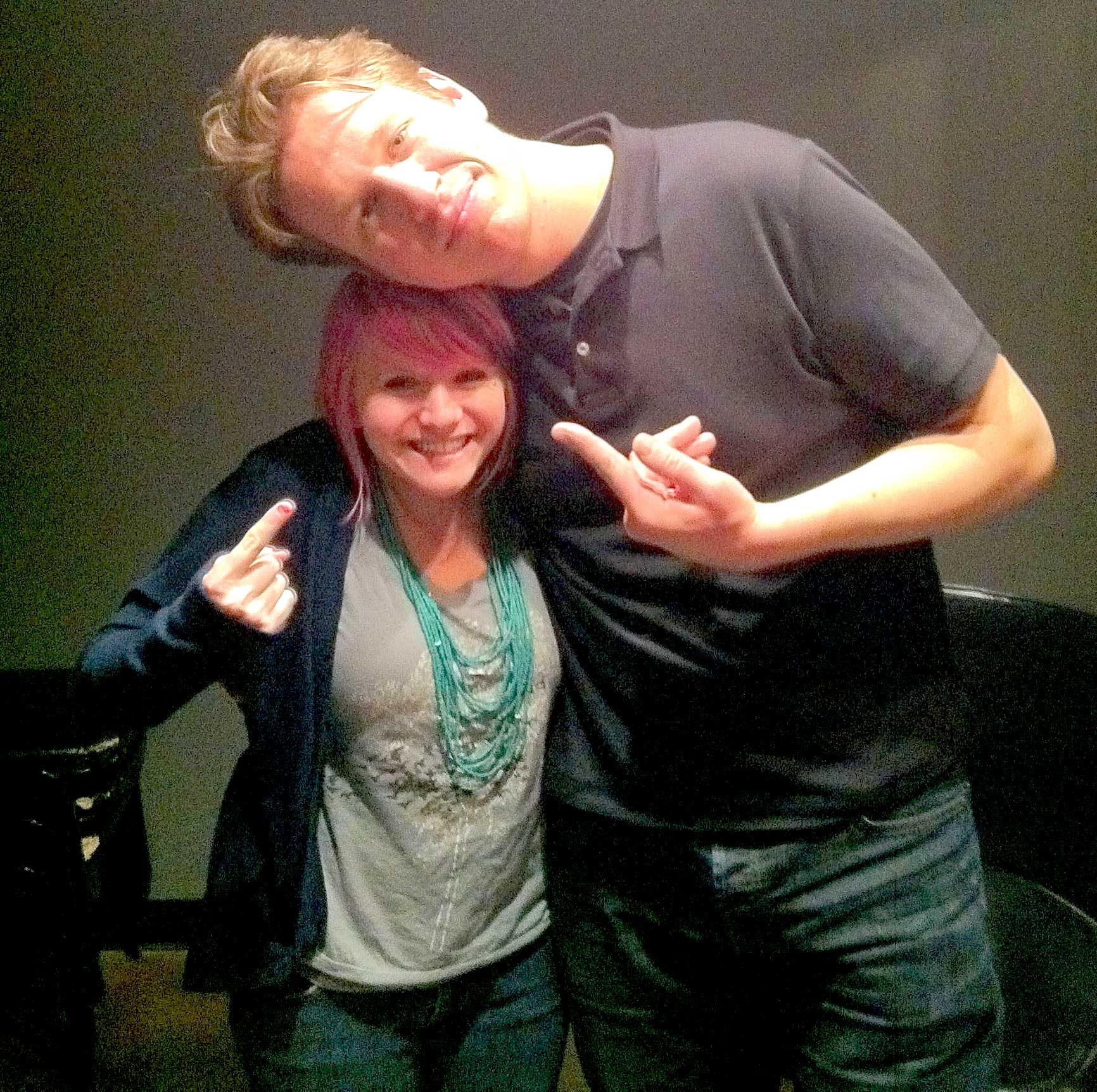 Meeting the very tall Pete Holmes