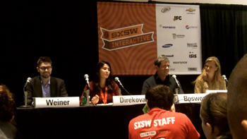 "SXSWi panel ""Can Gaming Make the World Better?"""